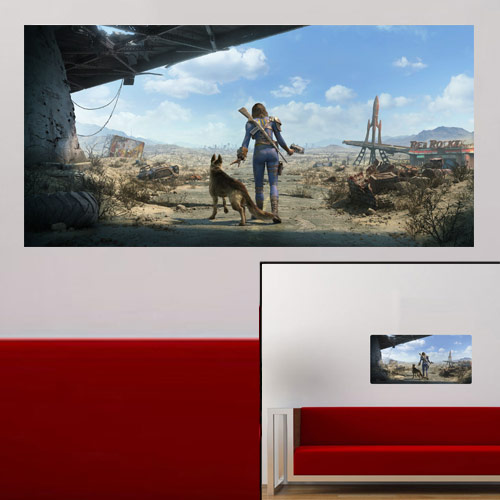 Fallout4 Sole Survivor and Dogmeat Wall Wrap – FanWraps