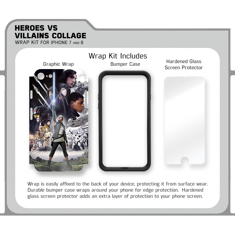 Heroes Vs Villains Collage Iphone 7 8 Wrap Kit Fanwraps