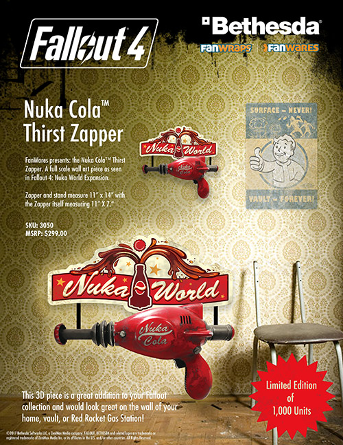 Fallout 4 Nuka Cola Thirst Zapper Collectible Replica